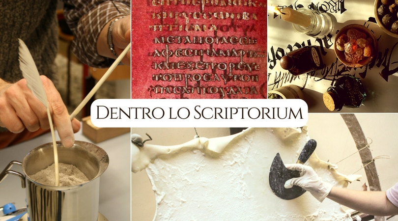 Dentro lo scriptorium - workshop pergamena inchiostri