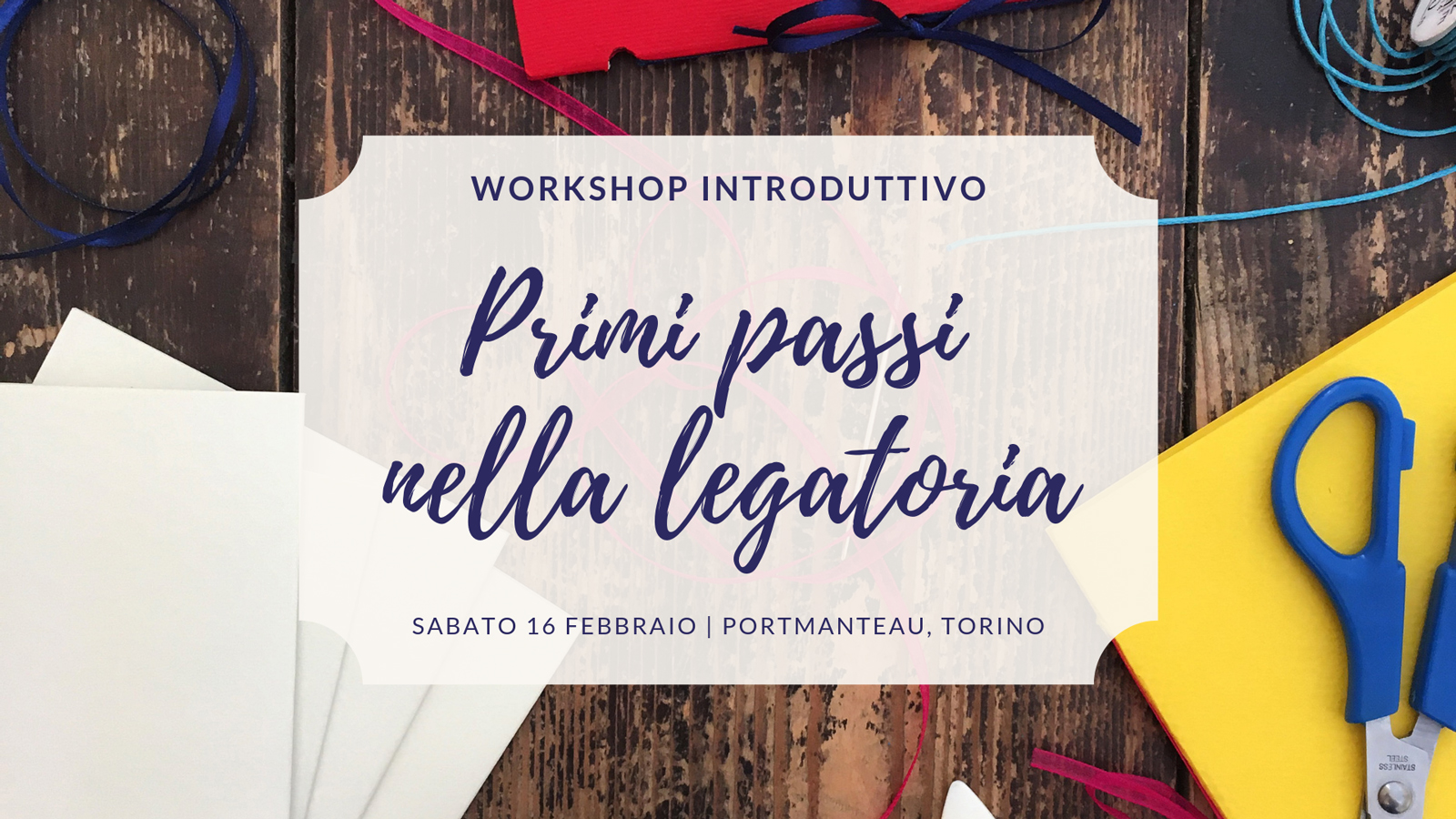 workshop legatoria principianti torino
