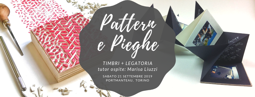 Workshop pattern timbri paperfolding Torino